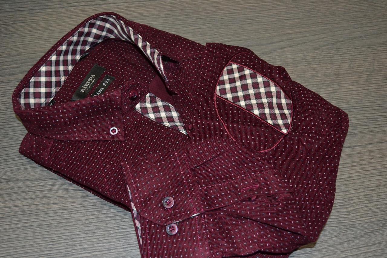 Вельветова приталені сорочка RIEPPA (розміри M)