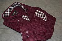 Вельветова приталені сорочка RIEPPA (розміри M), фото 1
