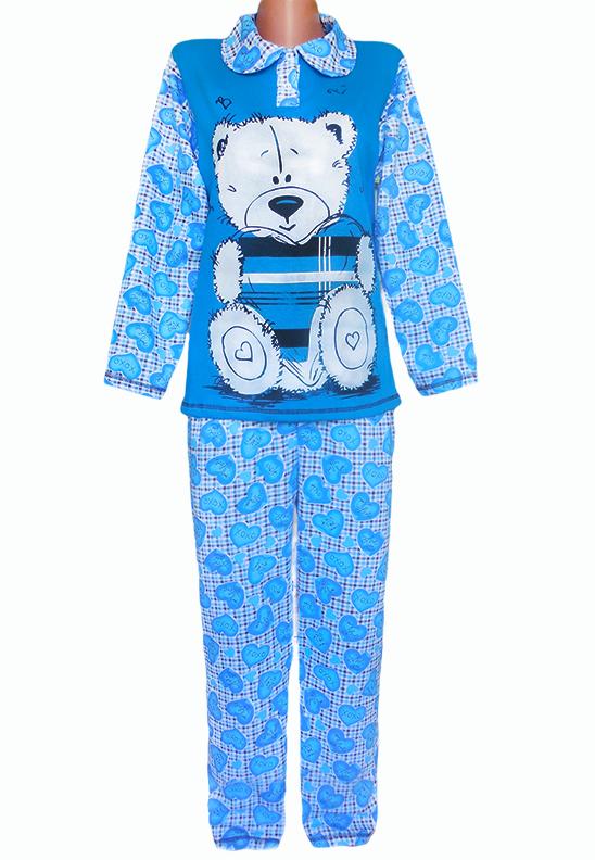 Теплая пижама с начесом женская зимняя хлопковая комплект домашний кофта и штаны Украина