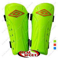 Щитки футбольные Umbro FB-6255-M (пластик, EVA, l-19,5см, р-р M, цвета в ассорт.)
