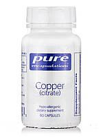 Мідь (цитрат), Copper (citrate ), Pure Encapsulations, 60 капсул, фото 1