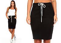 Спортивная юбка Ketty чёрная   (код 049)