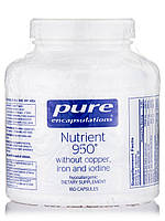 Nutrient 950 w/o Copper, Iron and Iodine, 180 Capsules, фото 1