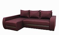 Угловой диван Garnitur.plus Граф темно-красный 245 см