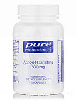 Acetyl-L-Carnitine 500 mg, 60 Capsules, фото 1
