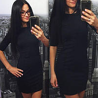 Мини платье чёрное   (код 009) , фото 1