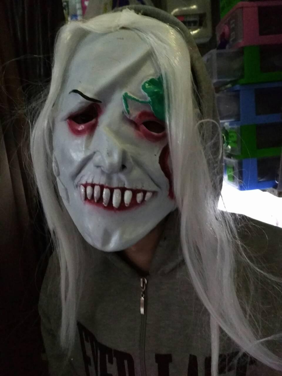 Маска Ведьма с волосами