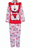 Женская пижама зимняя хлопковая с начесом кофта с брюками