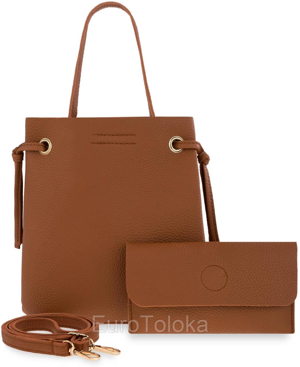 51155da80401 Женская сумка 2в1 клатч MAGNES коричневый Польша - EuroToloka в Волынской  области