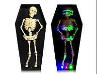 Скелет в гробу танцует