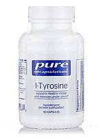L-тирозин, l-Амінокислоти, Pure Encapsulations, 90 капсул, фото 1