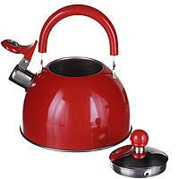 Чайник на газ 2л.Красный (1340)