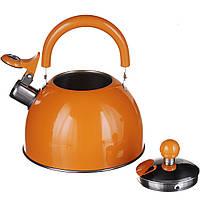 Чайник на газ 2л.Оранжевый (1340)