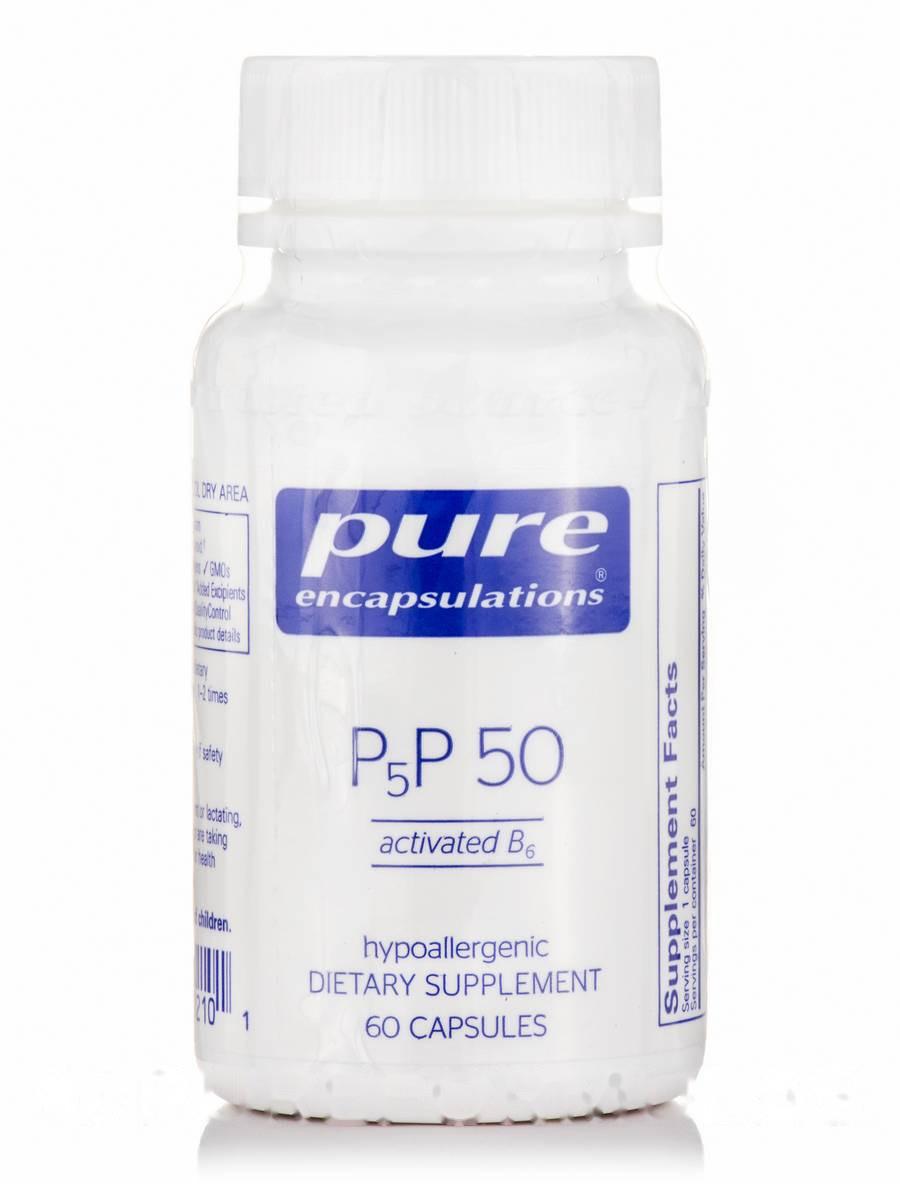 P-5-P 50 (Activated B6), P-5-P 50 (Activated B6), Pure Encapsulations, 60 Capsules