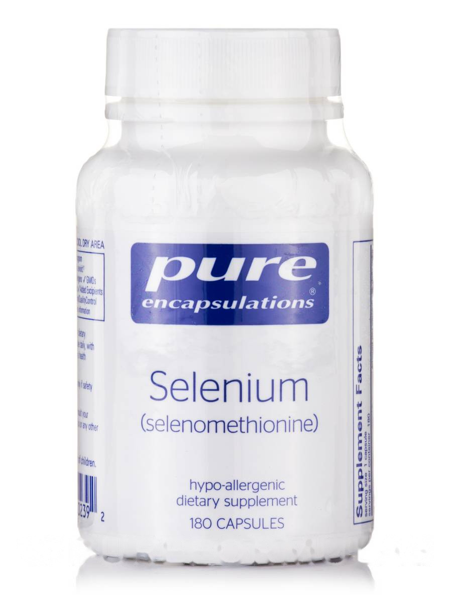 Селен (селенометионин), Selenium (selenomethionine), Pure Encapsulations, 180 капсул
