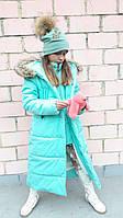 Пальто, девочка, зима, плащевка, флис, утеплитель 250