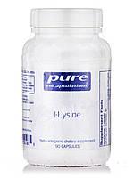 L-лизин, l-Lysine, Pure Encapsulations, 90 капсул, фото 1