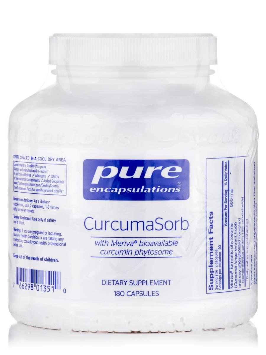 Куркума Сорб, CurcumaSorb, Pure Encapsulations, 180 Капсул