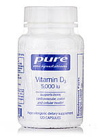 Vitamin D3 5, 000 IU, Vitamin D3 5 000 IU, Pure Encapsulations, 120 Capsules, фото 1