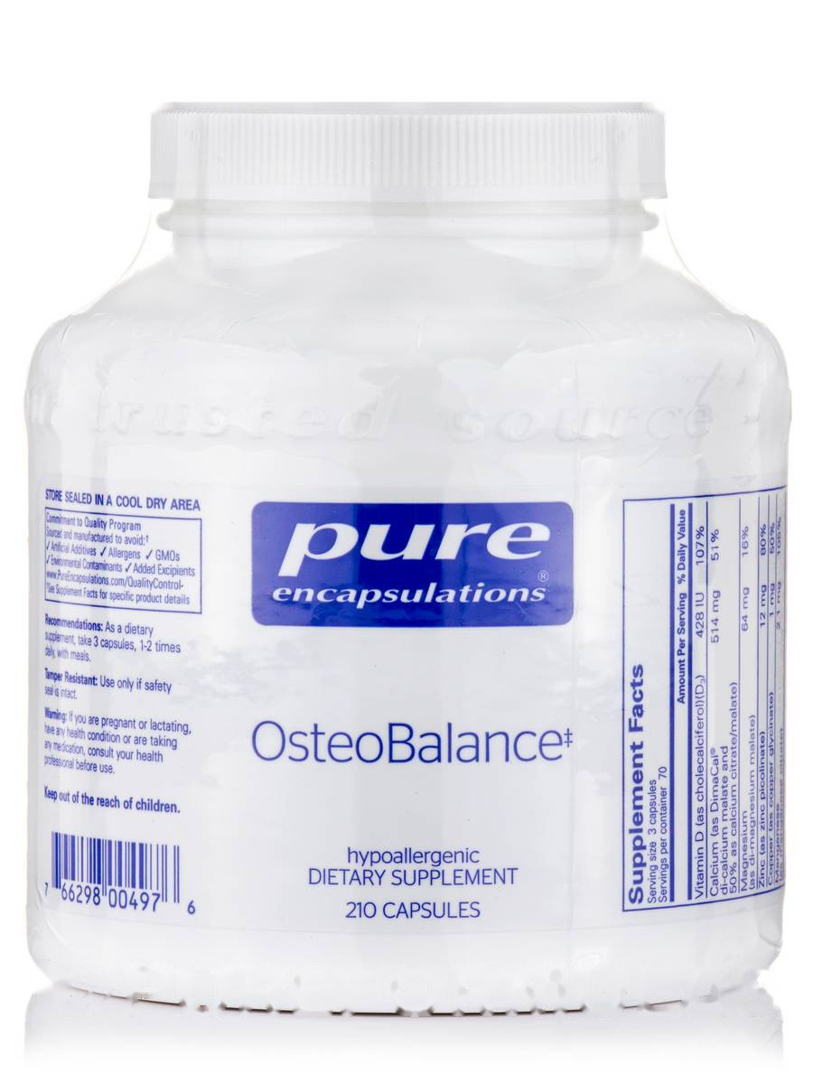 Остеобаланс, OsteoBalance, Pure Encapsulations, 210 капсул