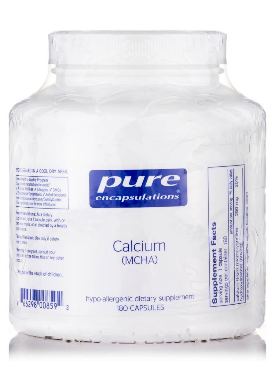 Кальцій (MCHA), Calcium (MCHA), Pure Encapsulations, 180 капсул