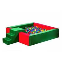 Сухой бассейн с горкой 150-150-40 см ТМ Тia-sport Тиа-Спорт: sm-0126 (Украина)