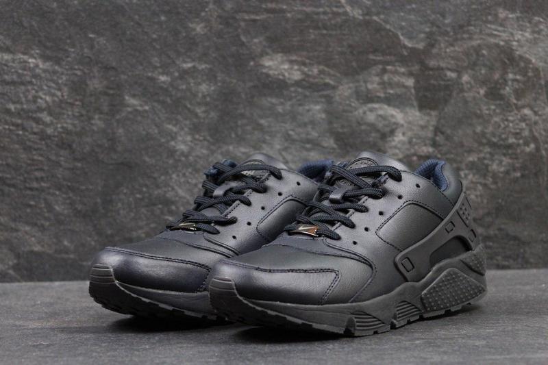37e1fd7917f701 Чоловічі осінні кросівки Nike Huarache темно- сині (3303)
