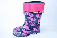 """Гумові чоботи для дівчинки """"Demar"""", фото 1"""