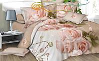 """Комплект постельного белья двуспальный ТМ """"Ловец снов"""", Красавица-роза"""