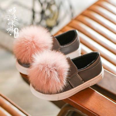 Туфли  с пампоном из меха, фото 2