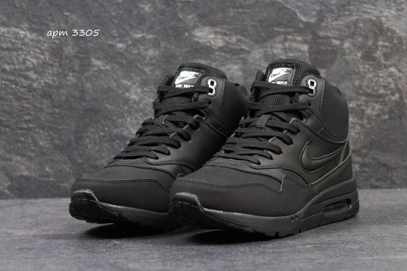 Чоловічі осінні кросівки Nike Air Max чорно-сірі (3309) 9484e1f4acdcf