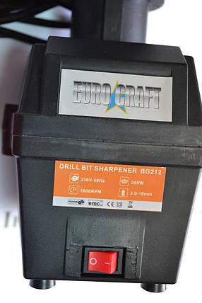 Точильна машина для свердел EURO CRAFT BG 212, фото 2