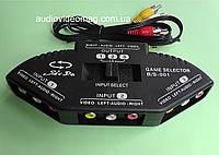 Разветвитель-селектор 3RCA, 1 вход - 3 выхода + кабель
