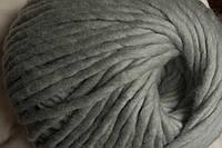 Толстая пряжа ручного прядения Цвет серебро Для объемного вязания