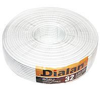 Кабель TV 75 Ом коаксиальный Dialan (305м) White