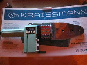 Паяльник для пластикових труб KRAISSMANN 1500 KMS 6, фото 2