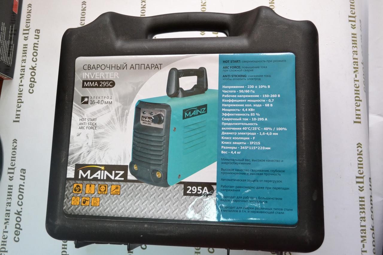 Зварювальний інвертор MAINZ MMA295C