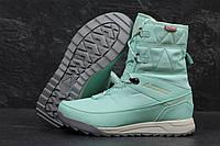 Кроссовки Женские Adidas Terrex Зимние. Нубук Мех 100% Мятные
