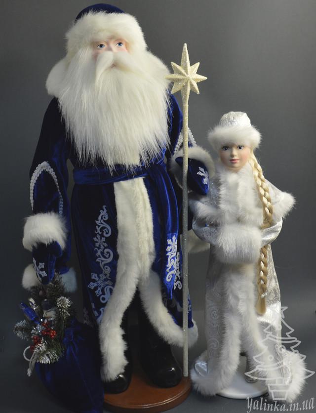 пара дід мороз разом із снігуронькою
