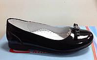 Туфли-балетка для девочки черные лакированные, фото 1