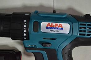 Дриль - шуруповерт акумуляторний AL-FA  ALCD18L, фото 2
