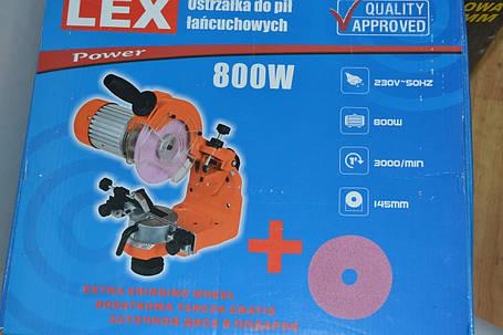 Верстат для заточування ланцюгів LEX LXCG800 з асинхронним двигуном, фото 2