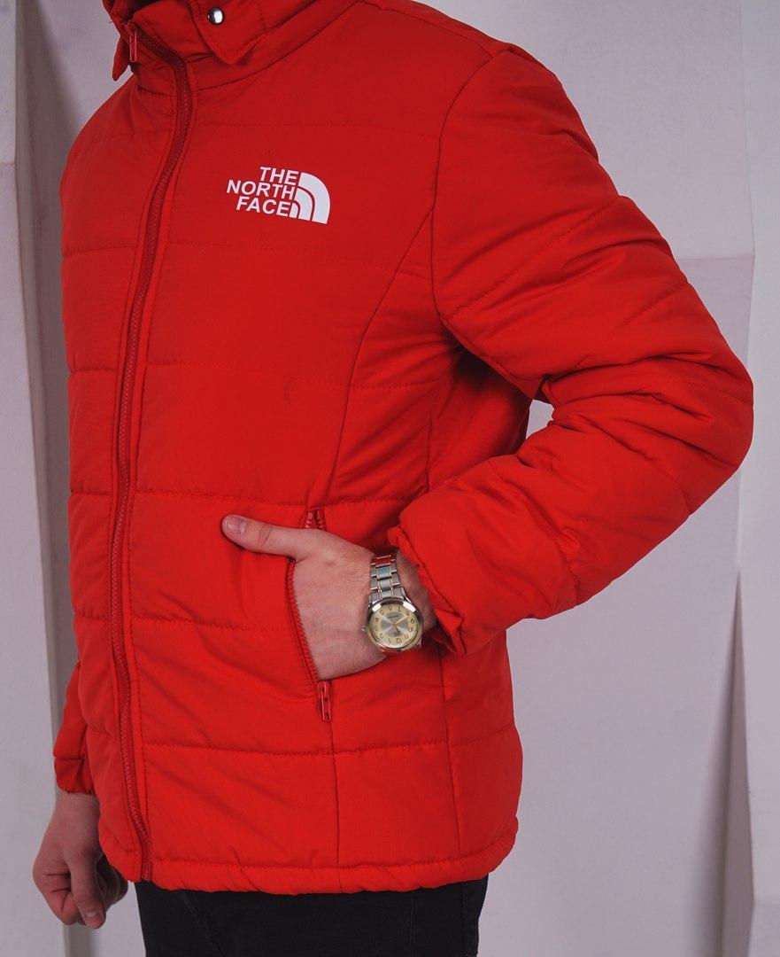 Мужская красная зимняя куртка/пуховик The North Face, красная