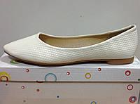 Туфли-балетки для девочки белые