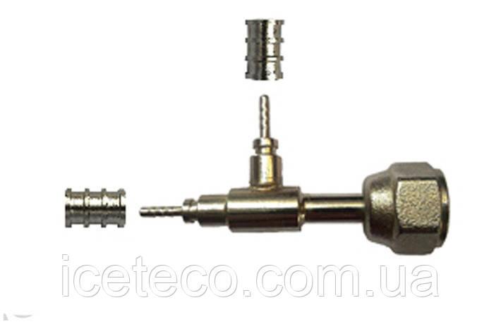 Фитинг 143 Cold-flex Т-типа с гайкой ¼ угловой