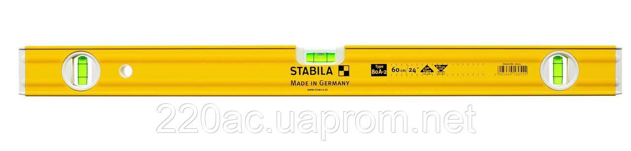 Уровень пузырьковый 80см STABILA TYPE 80 A-2 16056