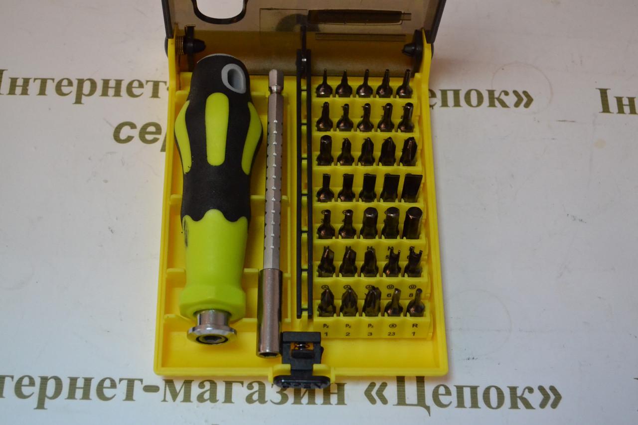 Викрутка з набором прецизійних біт DK-7091, 37шт