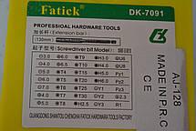 Викрутка з набором прецизійних біт DK-7091, 37шт, фото 3