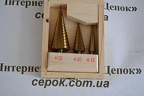 Свердло ступеневу по металу 15 ступенів 4-32 мм, 3шт, фото 2