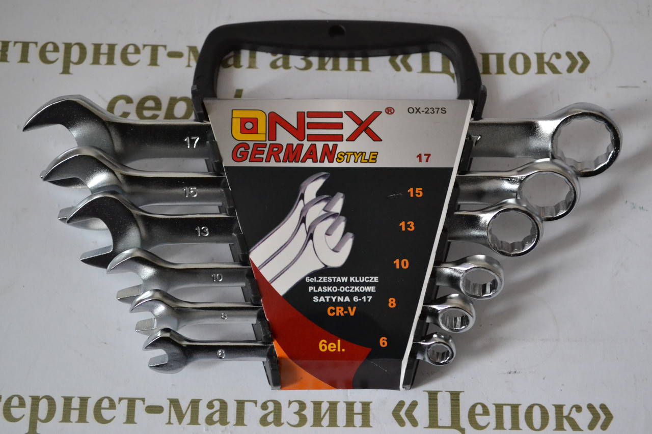 Набір ключів Onex OX-237S, 6шт